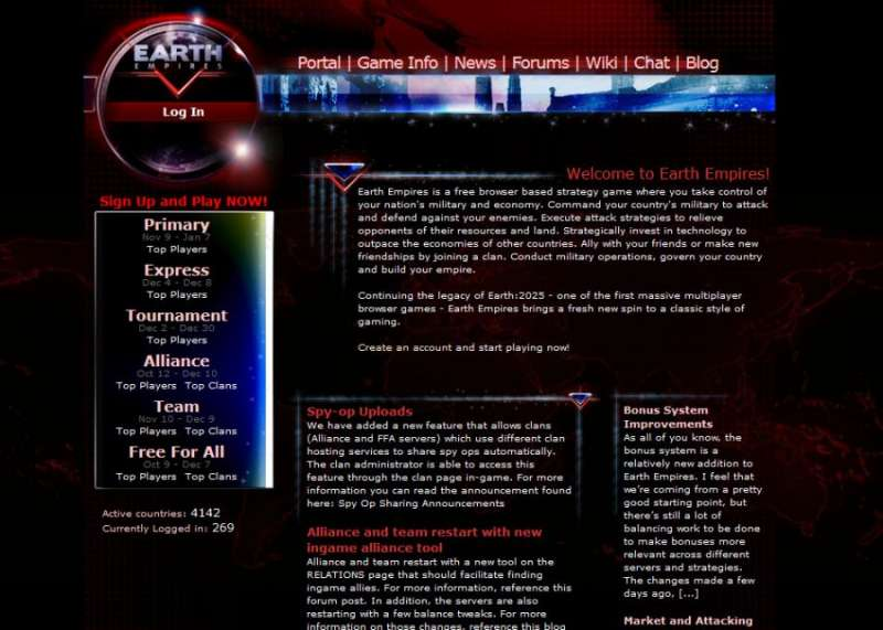 Best online games - Earth Empires