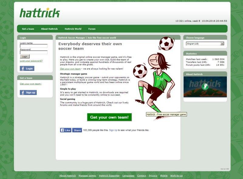 Best online games - Hattrick Soccer Manager
