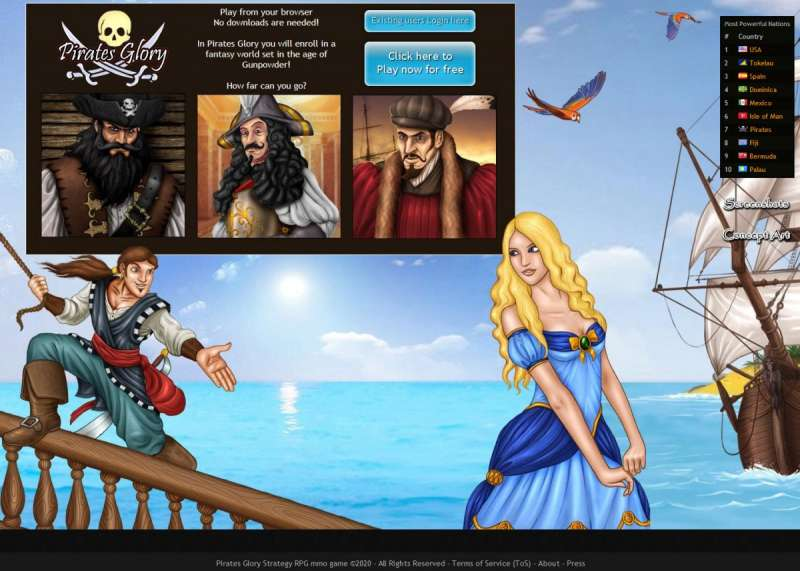 4x4 Country online game - Pirates Glory