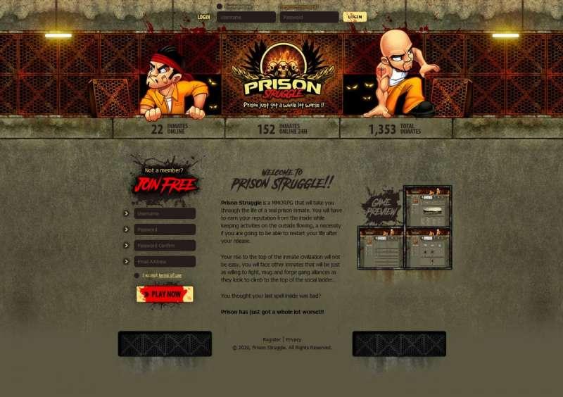 Mafia 1930 online game - Prison Struggle