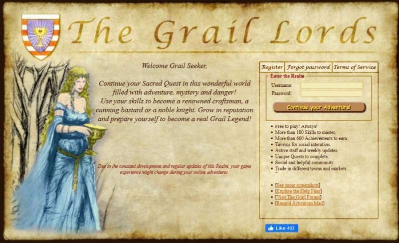 Best online games - The Grail Lords