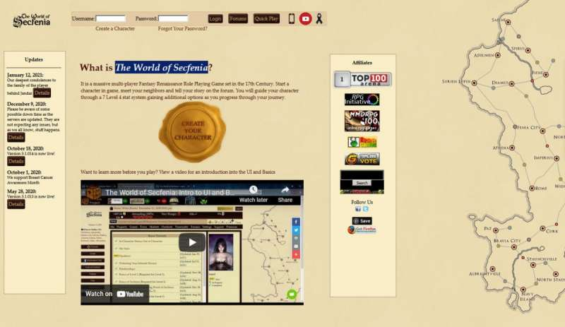 4x4 Country online game - The World of Secfenia