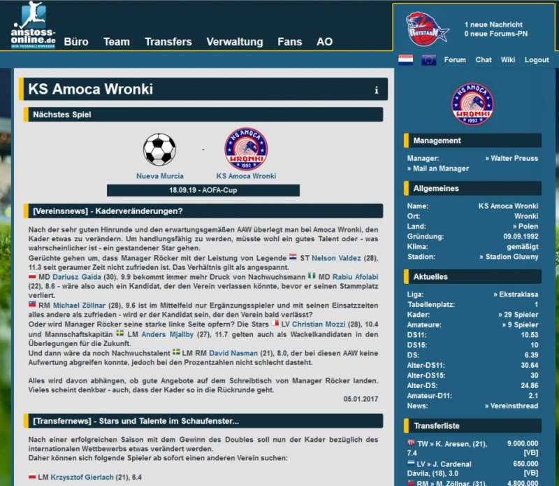Anstoss Online  2002